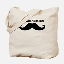 Personalized Mustache Tote Bag