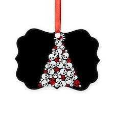 Gothic Skull Christmas Tree Ornament