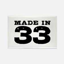 Made In 33 Rectangle Magnet
