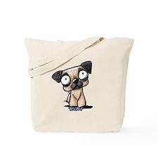 Scaredy Pug Tote Bag