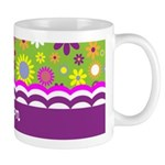 Colorful Flower Pattern Small Mug