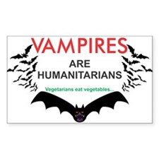 Vampires humanitarians Decal