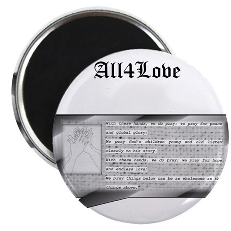 All4Love Prayer II Magnet
