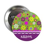 Personalized Name Colorful Flowers 2.25