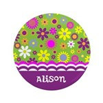 Personalized Name Colorful Flowers 3.5