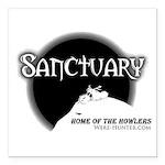 """Sanctuary Staff Square Car Magnet 3"""" x 3&quot"""