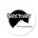Sanctuary Staff Round Car Magnet