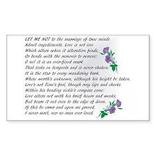 Sonnet 116 Decal