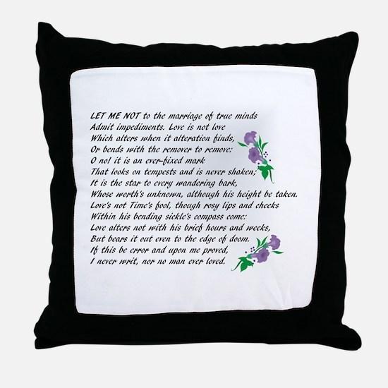 Sonnet 116 Throw Pillow