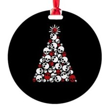 Gothic Skull Christmas Tree Ornament