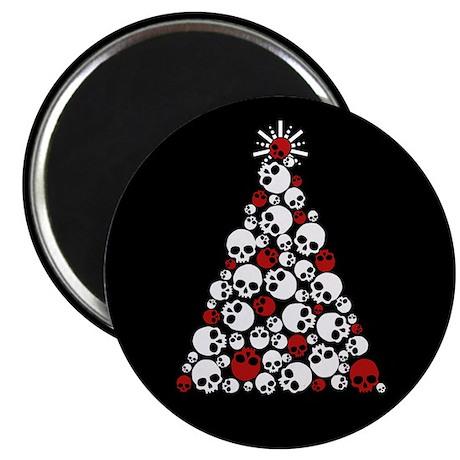 Gothic Skull Christmas Tree Magnet