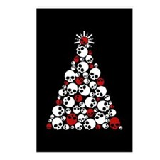 Gothic Skull Christmas Tree Postcards (Package of