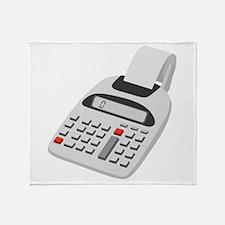 Adding Machine Calculator Throw Blanket