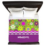 Custom Name Girly Background King Duvet