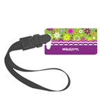 Girly Colorful flowers Small Luggage Tag