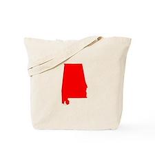 Bright Red Alabama Tote Bag