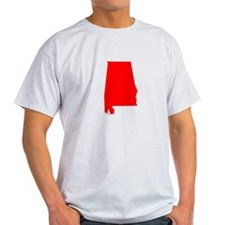 Bright Red Alabama T-Shirt