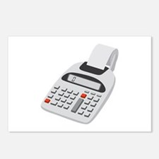 Adding Machine Calculator Postcards (Package of 8)