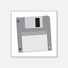 "Floppy Disk Diskette Square Sticker 3"" x 3"""