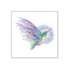 """Hummingbird Art Square Sticker 3"""" x 3"""""""