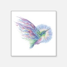 "Hummingbird Art Square Sticker 3"" x 3"""