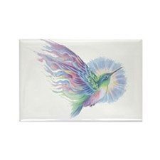 Hummingbird Art Rectangle Magnet