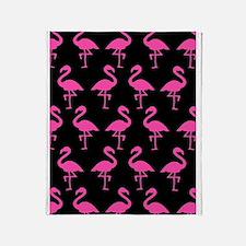 'Flamingos' Throw Blanket