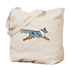 Blue Merle Sheltie Tote Bag