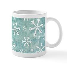 Grungy Snowflakes Mug
