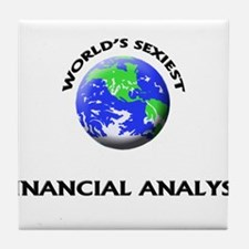 World's Sexiest Financial Analyst Tile Coaster