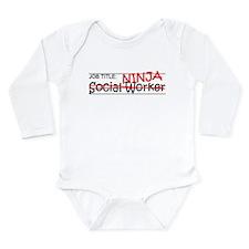 Job Ninja Social Worker Long Sleeve Infant Bodysui
