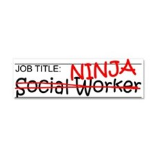 Job Ninja Social Worker Car Magnet 10 x 3