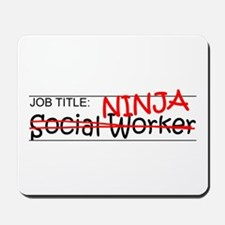 Job Ninja Social Worker Mousepad