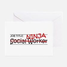 Job Ninja Social Worker Greeting Cards (Pk of 10)