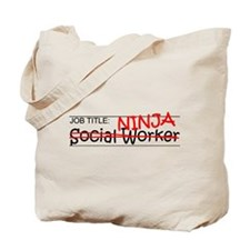 Job Ninja Social Worker Tote Bag