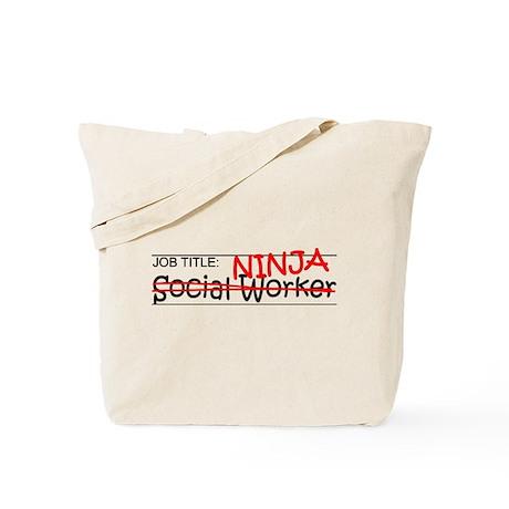 Job Ninja Social Worker Tote Bag