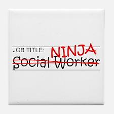 Job Ninja Social Worker Tile Coaster