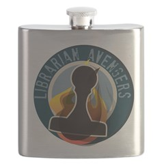 The Flaming Stamp Flask