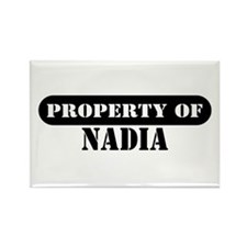 Property of Nadia Rectangle Magnet