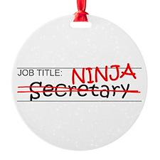 Job Ninja Secretary Ornament
