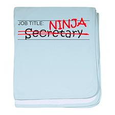 Job Ninja Secretary baby blanket