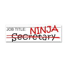 Job Ninja Secretary Car Magnet 10 x 3