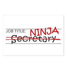 Job Ninja Secretary Postcards (Package of 8)