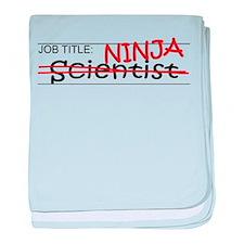 Job Ninja Scientist baby blanket