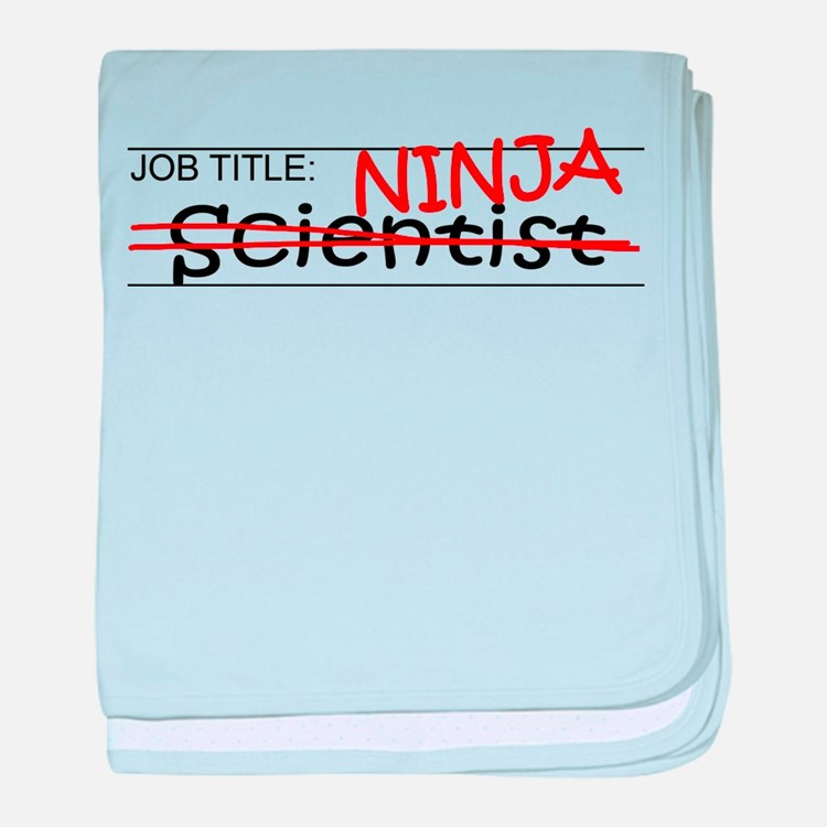 Job Ninja Scientist baby blanket