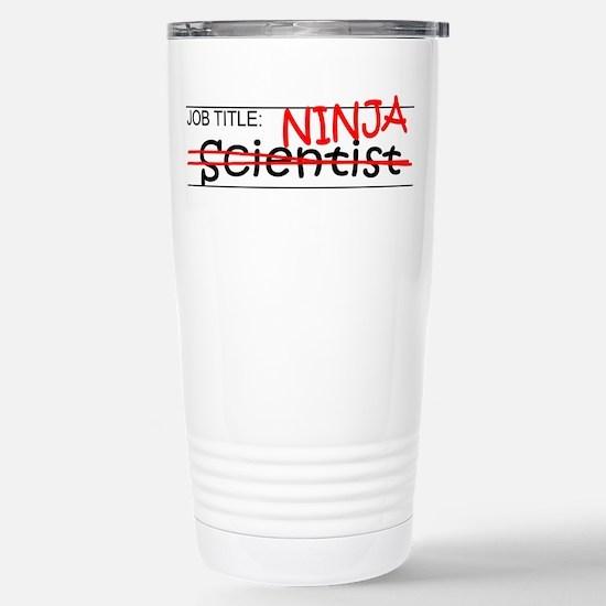 Job Ninja Scientist Stainless Steel Travel Mug