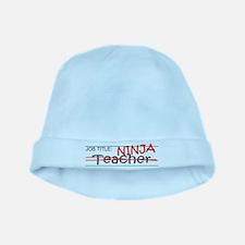 Job Ninja Teacher baby hat