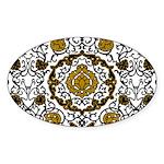Eleonora di Toledo's dress Sticker (Oval 50 pk)