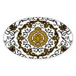 Eleonora di Toledo's dress Sticker (Oval 10 pk)
