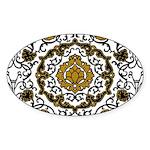 Eleonora di Toledo's dress Sticker (Oval)